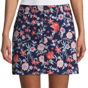 St. John's Bay Floral Poplin Skort - Size 18 - NWT